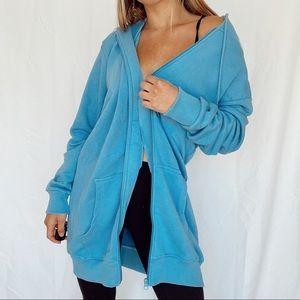 Boohoo oversized zip up hoodie
